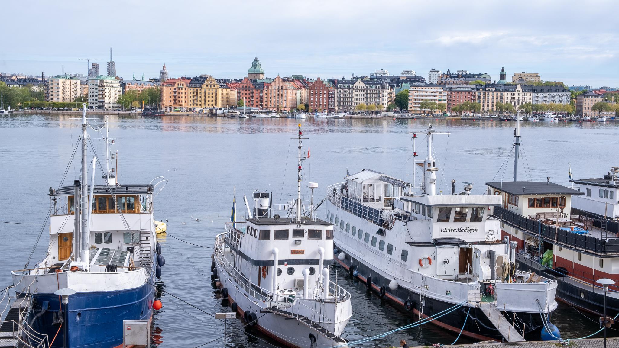 Båtar vid Söder Mälarstrand